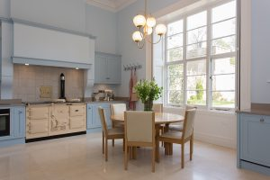 purpose built kitchen in grade ii listed property refurb