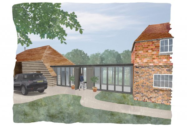 Artist Impression of Link Extension to Listed Building